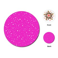 Dots pattern Playing Cards (Round)