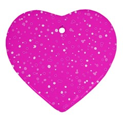 Dots pattern Heart Ornament (Two Sides)