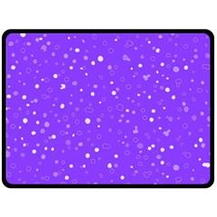 Dots pattern Double Sided Fleece Blanket (Large)