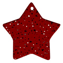 Dots pattern Star Ornament (Two Sides)