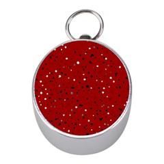 Dots pattern Mini Silver Compasses