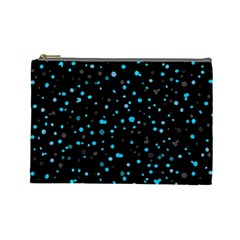 Dots pattern Cosmetic Bag (Large)