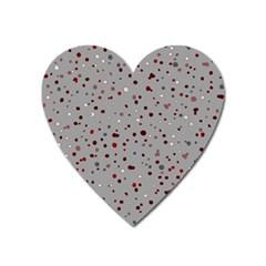 Dots pattern Heart Magnet
