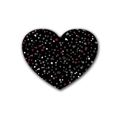 Dots pattern Heart Coaster (4 pack)