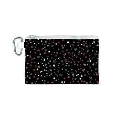 Dots pattern Canvas Cosmetic Bag (S)