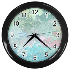 Pastel Garden Wall Clocks (Black)
