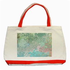 Pastel Garden Classic Tote Bag (red)