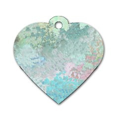 Pastel Garden Dog Tag Heart (Two Sides)