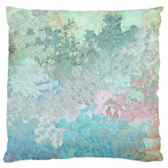 Pastel Garden Large Flano Cushion Case (One Side)