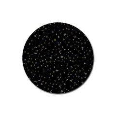 Dots pattern Rubber Round Coaster (4 pack)