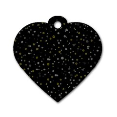 Dots pattern Dog Tag Heart (Two Sides)