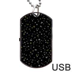 Dots pattern Dog Tag USB Flash (Two Sides)