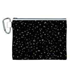 Dots pattern Canvas Cosmetic Bag (L)