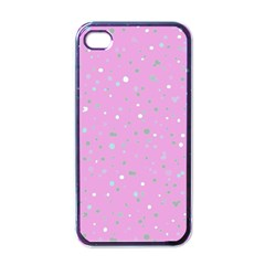 Dots pattern Apple iPhone 4 Case (Black)