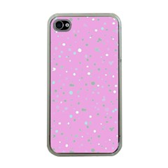 Dots pattern Apple iPhone 4 Case (Clear)