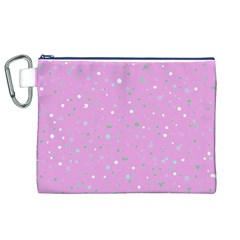 Dots pattern Canvas Cosmetic Bag (XL)