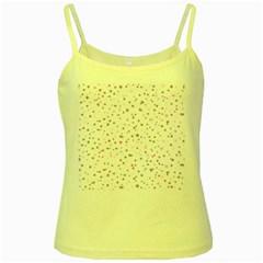 Dots pattern Yellow Spaghetti Tank