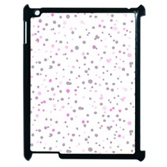 Dots pattern Apple iPad 2 Case (Black)