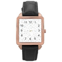 Dots pattern Rose Gold Leather Watch