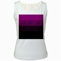 Abstract art  Women s White Tank Top