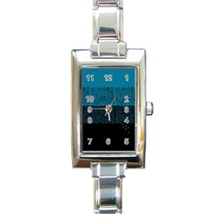 Abstract art  Rectangle Italian Charm Watch