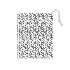Abstract art  Drawstring Pouches (Medium)