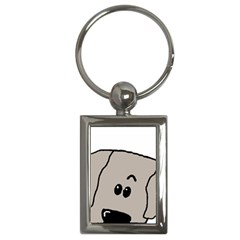 Peeping Weimaraner Key Chains (Rectangle)