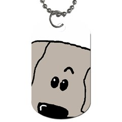 Peeping Weimaraner Dog Tag (One Side)