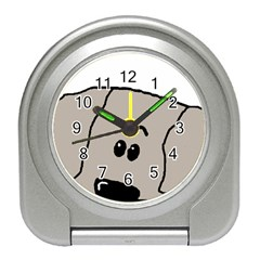 Peeping Weimaraner Travel Alarm Clocks