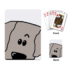 Peeping Weimaraner Playing Card