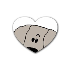 Peeping Weimaraner Heart Coaster (4 pack)