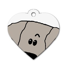 Peeping Weimaraner Dog Tag Heart (One Side)