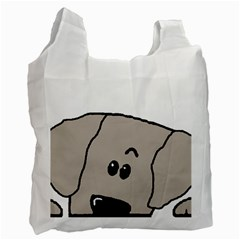 Peeping Weimaraner Recycle Bag (One Side)