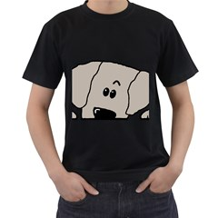 Peeping Weimaraner Men s T-Shirt (Black)