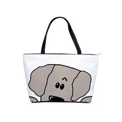 Peeping Weimaraner Shoulder Handbags