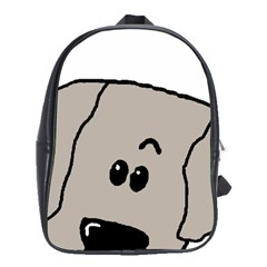 Peeping Weimaraner School Bags(Large)