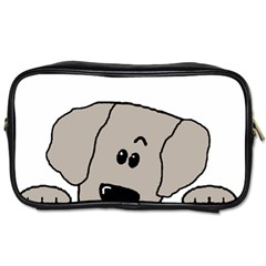 Peeping Weimaraner Toiletries Bags