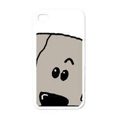 Peeping Weimaraner Apple iPhone 4 Case (White)