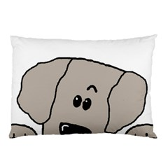 Peeping Weimaraner Pillow Case (Two Sides)