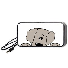 Peeping Weimaraner Portable Speaker (Black)