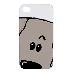 Peeping Weimaraner Apple iPhone 4/4S Hardshell Case