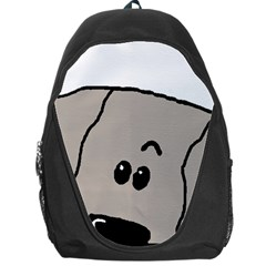 Peeping Weimaraner Backpack Bag