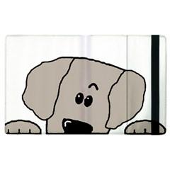 Peeping Weimaraner Apple iPad 3/4 Flip Case