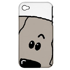 Peeping Weimaraner Apple iPhone 4/4S Hardshell Case (PC+Silicone)