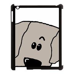 Peeping Weimaraner Apple iPad 3/4 Case (Black)