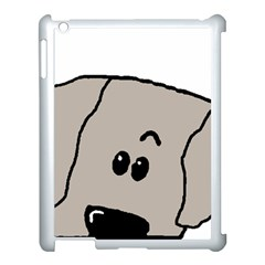 Peeping Weimaraner Apple iPad 3/4 Case (White)