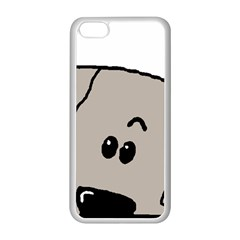 Peeping Weimaraner Apple iPhone 5C Seamless Case (White)