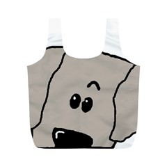 Peeping Weimaraner Full Print Recycle Bags (M)