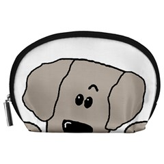 Peeping Weimaraner Accessory Pouches (Large)