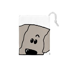 Peeping Weimaraner Drawstring Pouches (Small)